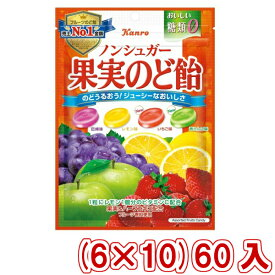 (本州送料無料)カンロ ノンシュガー果実のど飴(6×10)60入 (Y10)