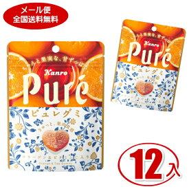 (クリックポスト全国送料無料) カンロ ピュレグミ オレンジティ 56g (6×2)12袋入【ラッキーシール対応】