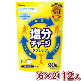 (本州送料無料)カバヤ 塩分チャージタブレッツ 塩レモン (6×2)12入 (Y80)