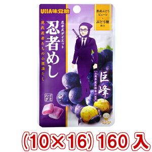 (本州送料無料) 味覚糖 忍者めし 巨峰味 (10×16)160入 (Y10)(2ケース販売)