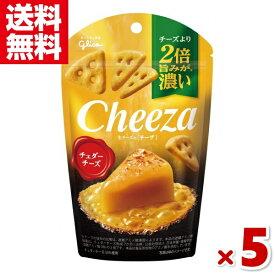 (メール便全国送料無料)江崎グリコ チーズより2倍旨みが濃い 生チーズのチーザ チェダーチーズ 5入 (CP)
