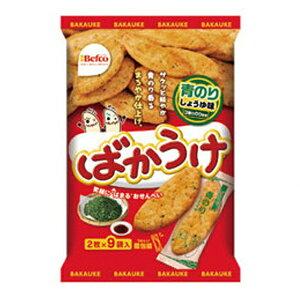 (本州送料無料) 栗山米菓 18枚 ばかうけ 青のりしょうゆ味 (12×2)24入 (Y12)