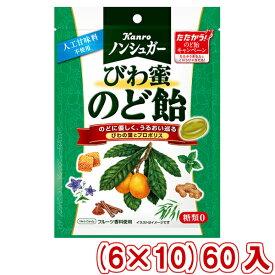 (本州送料無料) カンロ ノンシュガーびわ蜜のど飴 (6×10)60入 (ケース販売)(Y10)