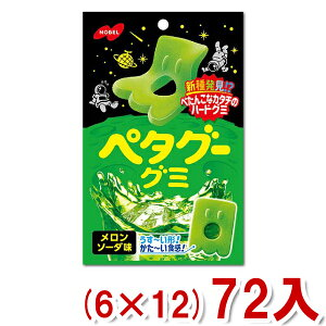 (本州送料無料) ノーベル ペタグーグミ メロンソーダ (6×12)72入 (Y12)(ケース販売)
