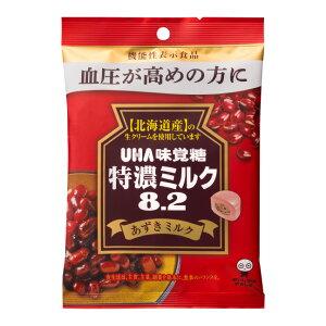 味覚糖 特濃ミルク8.2 あずきミルク6入 機能性表示食品 【ラッキーシール対応】