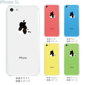 iphone5c ケース クリア イラスト iphone クリアケース iPhone5c ハードケース クリアーアーツ パンダA カバー アイフォン スマホケース 08-ip5cp-ca0019