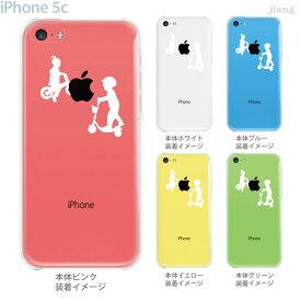 ジアン jiang iPhone5c ケース カバー iPhone スマホケース クリアケース Clear Arts イラスト クリアーアーツ 子供シルエット キックボード 01-ip5c-ca0128
