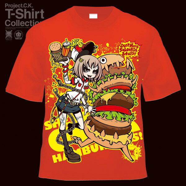 【Project.C.K】【プロジェクトシーケー】【Tシャツ】【キャラクター】【BURGER】 11-pck-0009