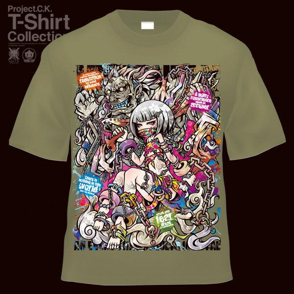 【Project.C.K】【プロジェクトシーケー】【Tシャツ】【キャラクター】【風神】 11-pck-0038