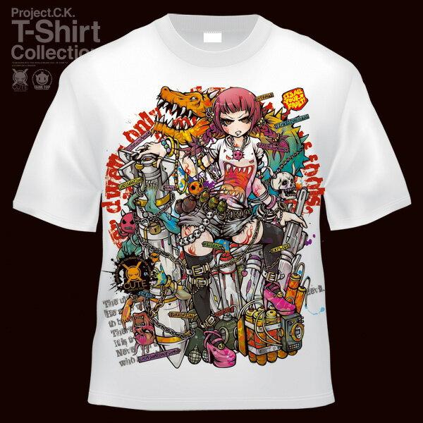 【Project.C.K】【プロジェクトシーケー】【Tシャツ】【キャラクター】【憤怒】 11-pck-0044