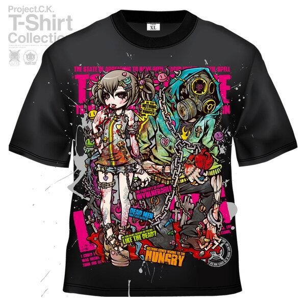 【Project.C.K】【プロジェクトシーケー】【Tシャツ】【キャラクター】【BLOODSUCKER】 11-pck-0050