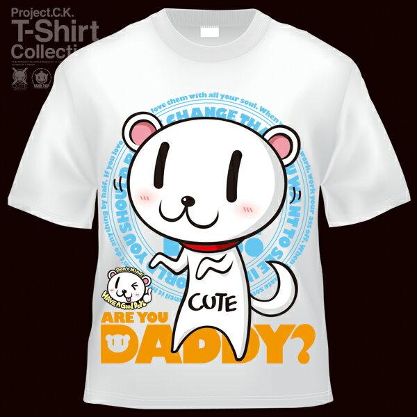 【Project.C.K】【プロジェクトシーケー】【Tシャツ】【キャラクター】【DADDY?】11-pck-0062