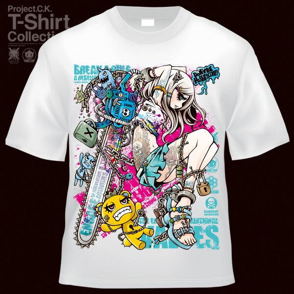 【Project.C.K】【プロジェクトシーケー】【Tシャツ】【キャラクター】【UnLOCKING SYSTEM】11-pck-0076