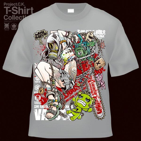 【Project.C.K】【プロジェクトシーケー】【Tシャツ】【キャラクター】【UnLOCKING SYSTEM-GAS-】11-pck-0077
