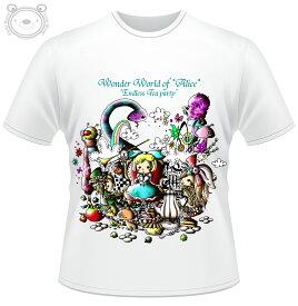 Little World リトルワールド Tシャツ メンズ イラスト 不思議の国のアリス 25-tm-0028