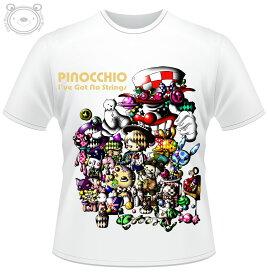 Little World リトルワールド Tシャツ メンズ イラスト ピノキオ 25-tm-0047