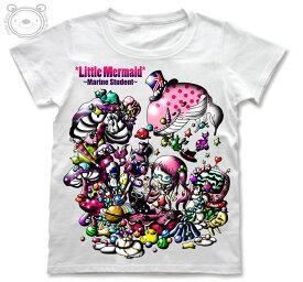 Little World リトルワールド Tシャツ レディース イラスト 人魚姫 25-tw-0037