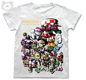 Little World リトルワールド Tシャツ レディース イラスト ピノキオ 25-tw-0047