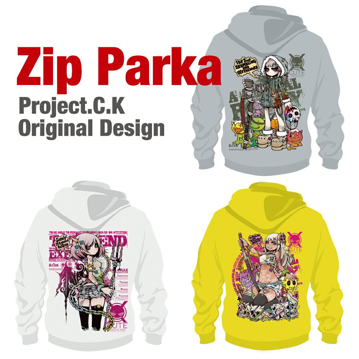 パーカー メンズ レディース トレーナー ブランド スウェット Project.C.K プロジェクトシーケー キャラクター pck-parka