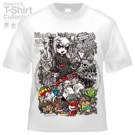 【Project.C.K】【プロジェクトシーケー】【Tシャツ】【キャラクター】【サルミ悪鬼(白)】11-pck-0070