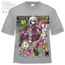 【Project.C.K】【プロジェクトシーケー】【Tシャツ】【キャラクター】【黒ロリさん】11-pck-0102