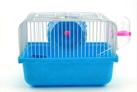ハムスター用 マウス用 ケージ 給水器付き ブルー