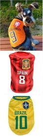 犬の服 ドッグウエア サッカーシャツ Waboats ペット服 ワールドカップ