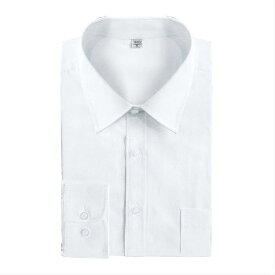 シャツ メンズ ビジネス 長袖 綿 無地 細身 カジュアル 白ワイシャツ