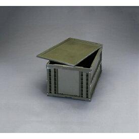 ESCO (エスコ) 530x366x325mm/51.9L 折畳コンテナ(OD色/蓋付) EA506AA-14DS