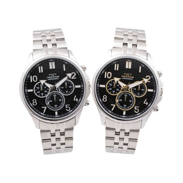 TECHNOS テクノス T6401 メンズ 腕時計 クロノグラフ 日本製ムーブ マルチ機能 ドレスウォッチ オールステンレス 送料無料