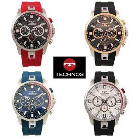 腕時計 ウォッチ テクノス TECHNOS T8A59 クロノグラフ CHRONOGRAPH シリコン ベルト 送料無料 日本製ムーブ クォーツ 10気圧防水 24時間計 ストップウォッチ ビッグフェイス ステンレス SEIKO社製 機械 使用 スイス
