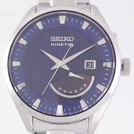 SEIKO SRN047P1 逆輸入 セイコー キネティック レトログラード ダイバーズ メタル ウォッチ SEIKO KINETIC WATER RESISTANT 10BAR STAINLES STEEL ダークブルー DARK BLUE
