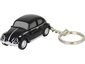【定形外郵便発送】Volkswagen Type 1 フォルクスワーゲン ビートル VW-Beetle キーライト/ブラックVWT68156【車/くるま/クルマ/自動車/ミニカー/キーホルダー/ライト付/かわいい/カワイイ/リア