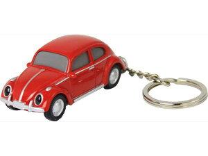 【定形外郵便発送】Volkswagen Type 1 フォルクスワーゲン ビートル VW-Beetle キーライト/レッド  VWT68154【車/くるま/クルマ/自動車/ミニカー/キーホルダー/ライト付/かわいい/カワイイ/リアル/便