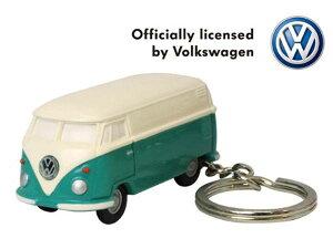 【定形外郵便発送】Volkswagen Type2 フォルクスワーゲン バス VW-BUS キーライト/グリーン VWT68142【車/くるま/クルマ/自動車/ミニカー/キーホルダー/ライト付/かわいい/カワイイ/リアル/便利/おし