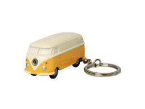【定形外郵便発送】Volkswagen Type2 フォルクスワーゲン バス VW-BUS キーライト/イエロー VWT68144【車/くるま/クルマ/自動車/ミニカー/キーホルダー/ライト付/かわいい/カワイイ/リアル/便利/おし