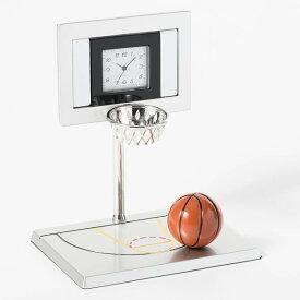 ミニチュア 置時計 スポーツ バスケットボール ゴール ボール C3635 小さい かわいい ミニチュア雑貨 クロック コレクション 時計 ギフト プレゼント 贈り物 お祝い インテリア雑貨 バラエティ雑貨 ステーショナリー 書斎 リビング 応接室 オフィス 置物 バスケ