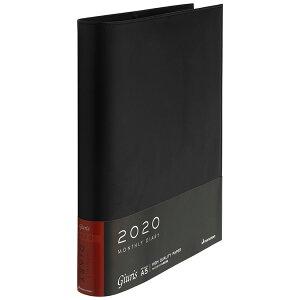 送料無料 マルマン 手帳 2020 ジウリス ダイアリー A5 FD289A-20 ブラック マンスリー スケジュール帳 軽量 持ち運び 便利 ビジネス ファーマル ノート 文具 事務用品 ルーズリーフ アクセサリー