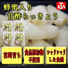【九州育ち】蜂蜜入り甘酢らっきょう 270g×4袋(送料無料)