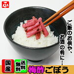 梅酢ごぼう(醤油漬け)(上沖産業)80g×1袋【送料無料】