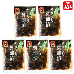「品質に自信あり」無添加きゅうり醤油漬(上沖産業)100g×5袋【送料無料】