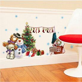 ウォールステッカー クリスマス 3D ツリーくまさん雪だるまスノーマン壁飾り サンタクロース クリスマスハンド パーティ 飾りつけ クリスマスの靴下 ガーラン クリスマス店舗 ショーウィンド ガラスステッカー DIY サンタ 部屋 店舗 装飾シール【thxgd_18】送料無料
