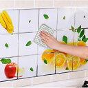 耐熱シート キッチンシート 壁用汚れ防止シート 15柄選べる ウォールステッカー 台所 壁紙 大きサイズ壁シール 貼…
