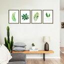 ウォールステッカー 花 植物 葉ハワイ風 壁紙 シール ポスターグリーン リーフ 観葉植物、額縁、 大きい葉 おしゃれ 北欧 激安 シール ウォールステッカー ...
