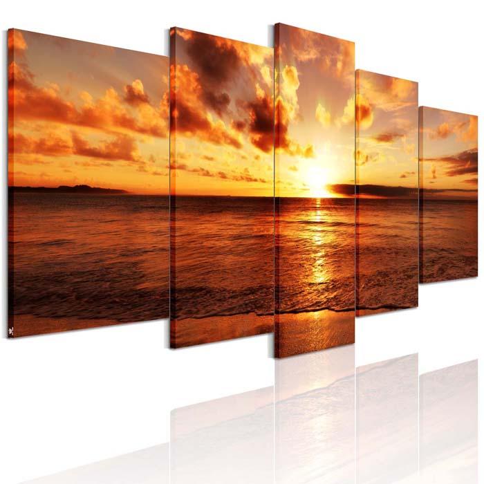 30%OFFセール 送料無料 絵画 海 アートパネル 海辺の夕日 モダン「海の景色」「夜明けの海」 画 インテリア 絵画 海 風景画 壁飾りAirbnb 民泊 シェアハウス 装飾 5枚パネルセット