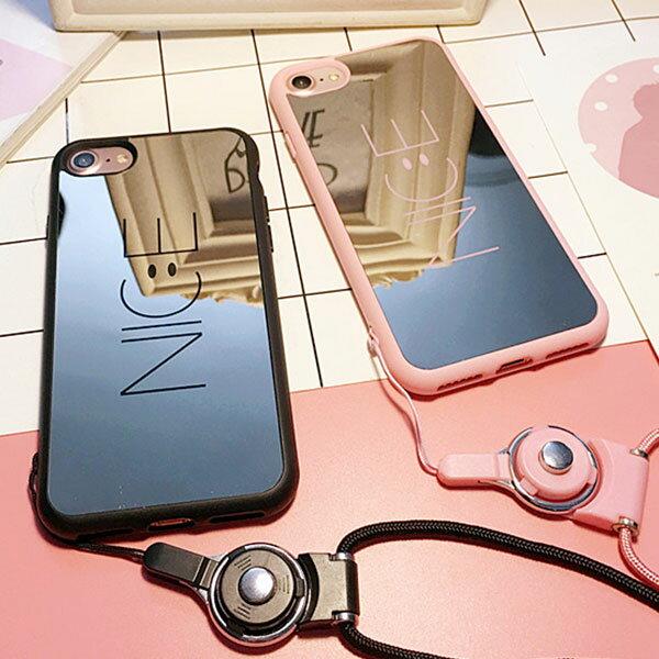 iPhone case nice mirror smile iPhoneケース ナイス ミラー スマイル スマイリー ニコちゃん ネットストラップ アイフォン X 8 7 6s 6 8プラス 7プラス 6sプラス 6プラス ブランド デザインケース スマートフォンケース スマホケース スマホカバー アイフォンケース