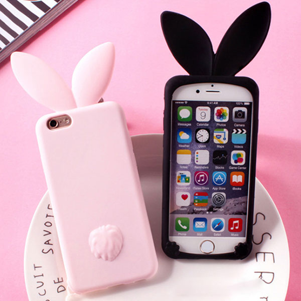 iPhone case rabbit TPU iPhoneケース うさぎ ラビット ウサギ 尻尾 しっぽ ストラップ アイフォン8 7 6s 6 8プラス 7プラス 6sプラス 6プラス ブランド デザインケース スマートフォンケース スマホケース スマホカバー アイフォンケース