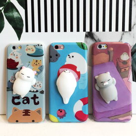 37825e1415 iPhone design case 3D character marshmallow iPhoneケース マシュマロ キャラクター ぷにぷに  アザラシ ネコ 猫 立体的