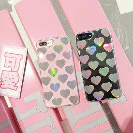 iPhone Case Heart Twinkle iPhoneケース ハート きらきら ピンク クリア アイフォン X 8 7 6s 6 8プラス 7プラス 6sプラス 6プラス ブランド デザインケース スマートフォンケース スマホケース スマホカバー アイフォンケース