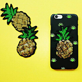 1988y iPhone design case Pineapple Spangle summer iPhoneケース パイナップル スパンコール 夏 サマー リゾート アイフォン Xs X 8 7 6s 6 8プラス 7プラス 6sプラス 6プラス ブランド デザインケース スマートフォンケース スマホケース スマホカバー アイフォンケース